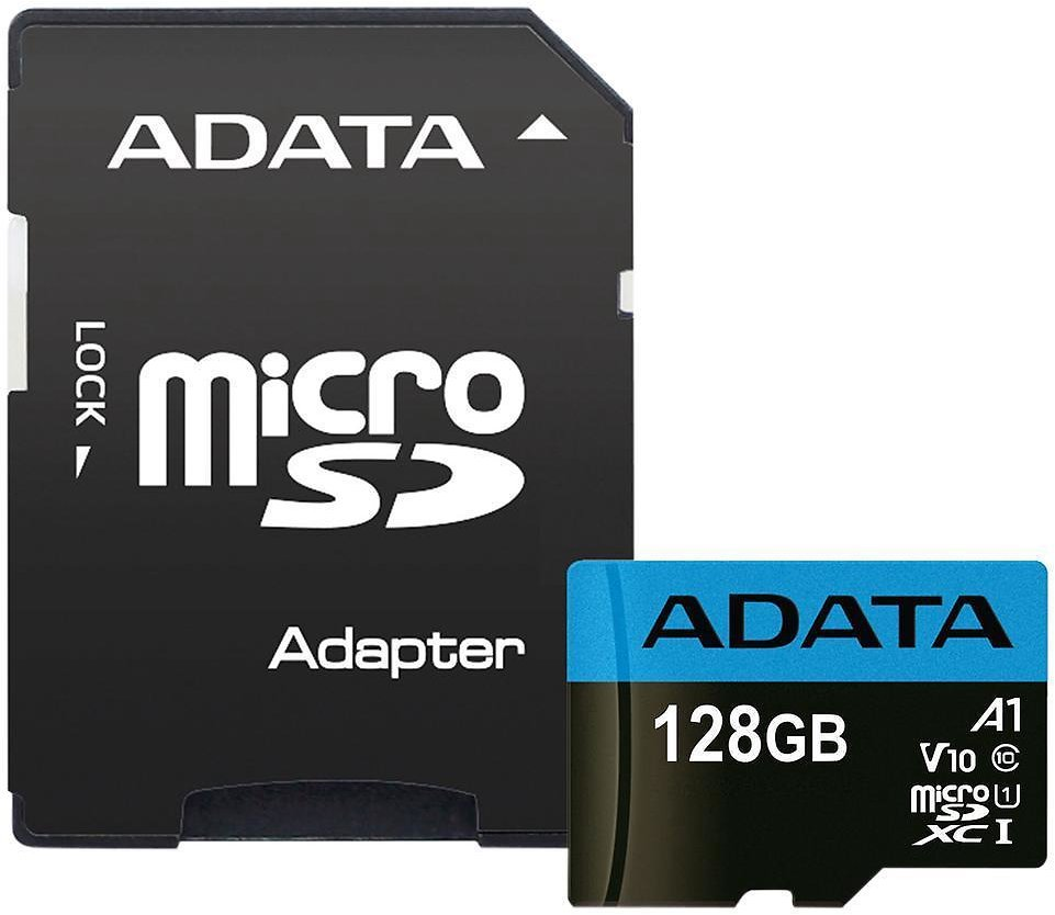ADATA 128GB Premier MicroSDXC UHS-I / Class 10 V10 A1 Memory Card with SD Adapter, Speed Up to 85MB/s (AUSDX128GUICL10A1-RA1)