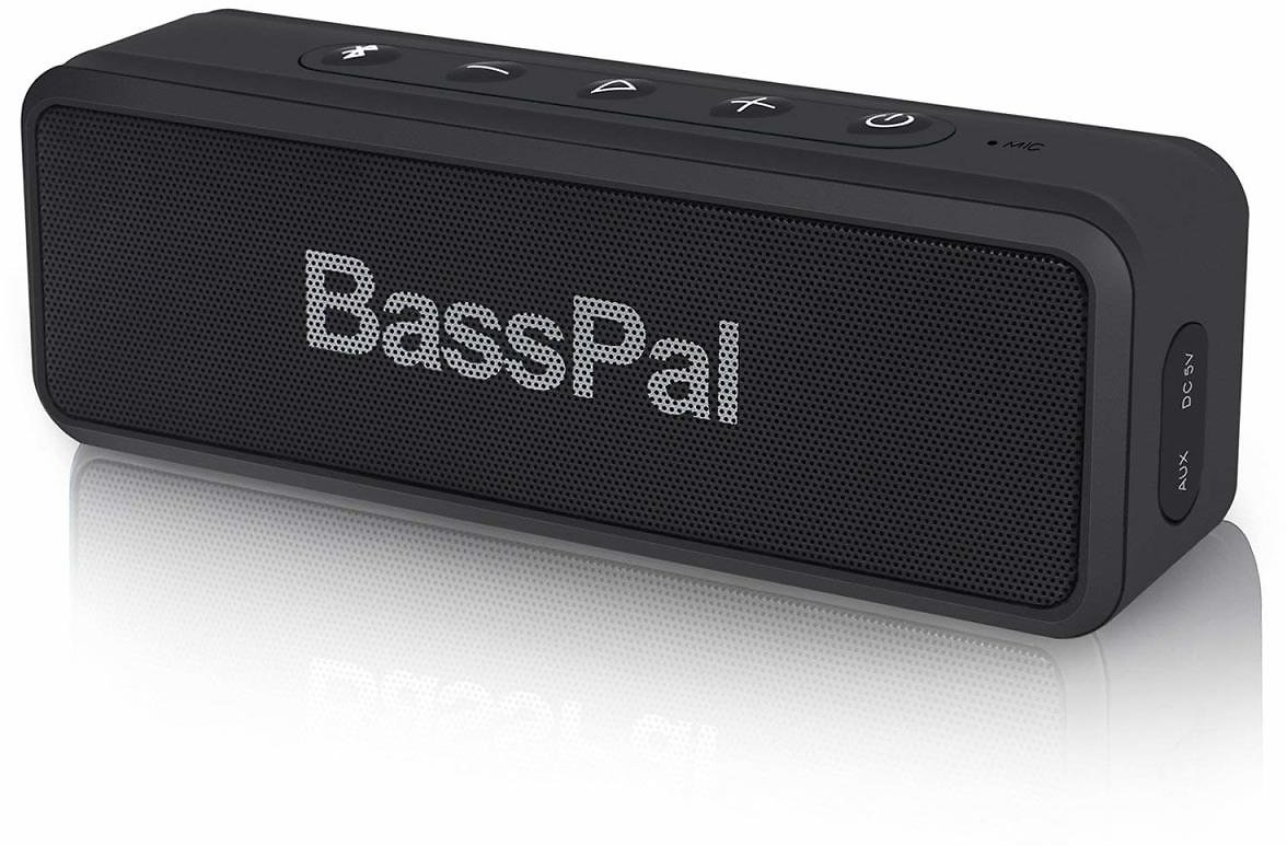 BassPal SoundRo X3 Portable Bluetooth Speaker with Loud Stereo Sound, Enhanced Bass, 24-Hour Playtime, 66 Ft Bluetooth Range, Built-in Mic, Waterproof Wireless Speaker for Outdoors, Party, Travel: Cell Phones & Accessories