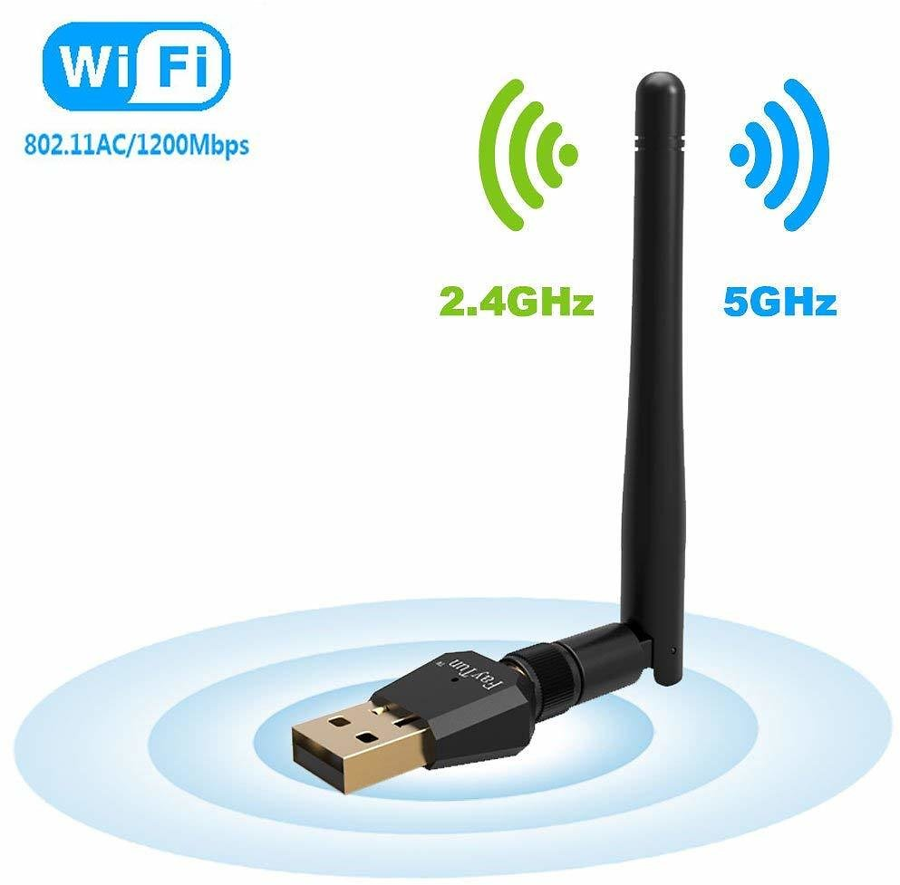 1200Mbps Wireless USB WiFi Adapter, FayTun USB WiFi Adapter,AC1200 Dual Band 2.4GHz/300Mbps+5GHz/867Mbps,802.11 Ac/a/b/g/n High Gain Antenna Network LAN Card Support Windows XP/7/8/10,MAC,OSX: Electronics