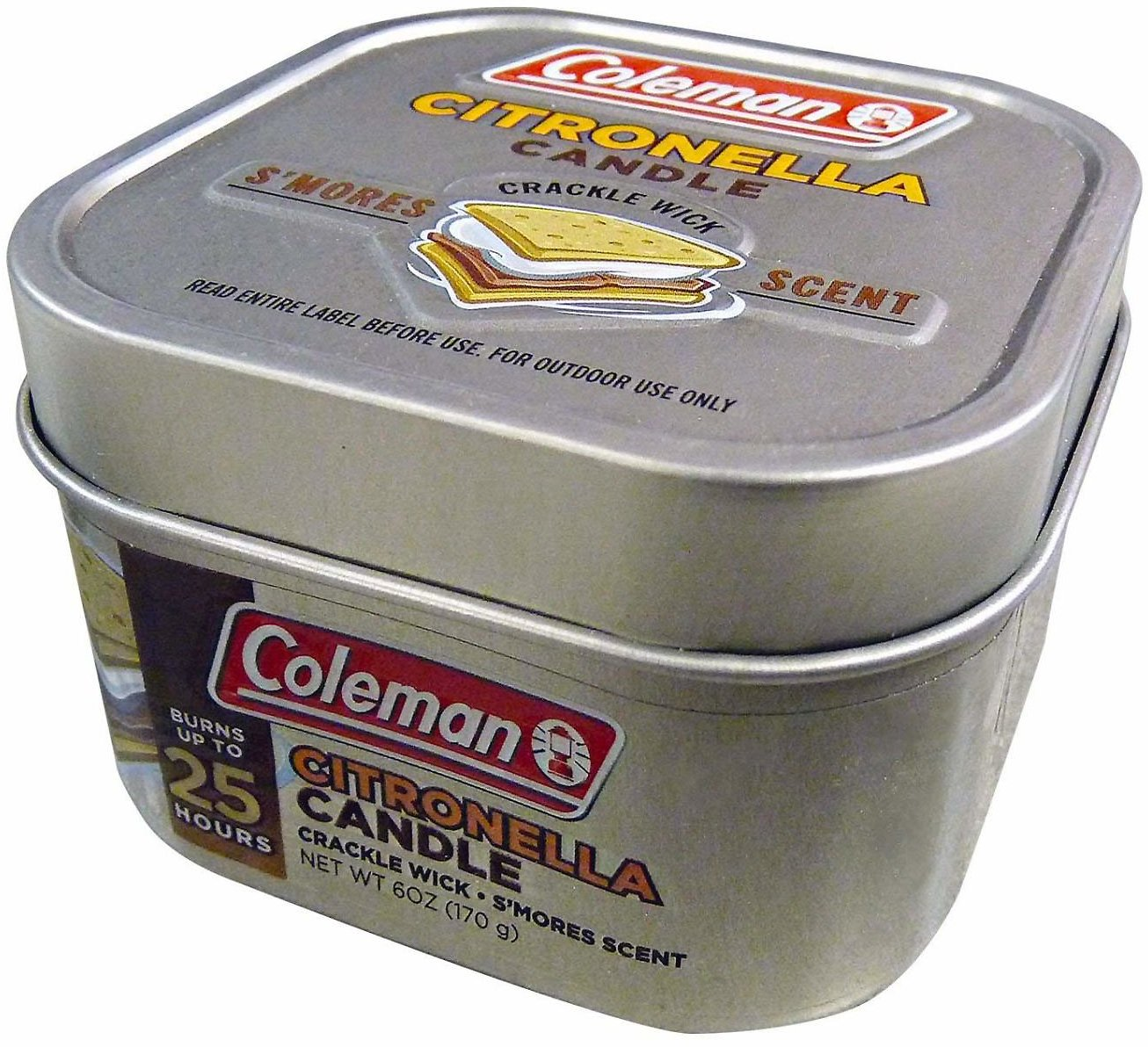 Coleman Scented Citronella Candle w/Crackle Wick 6oz Smores