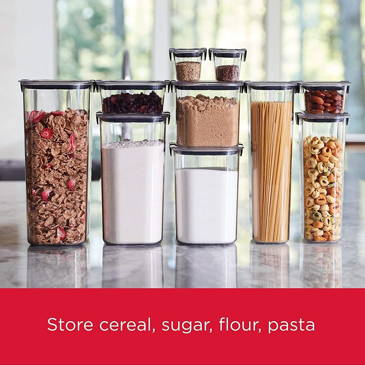 10-Piece Rubbermaid Pantry Food Storage Containers