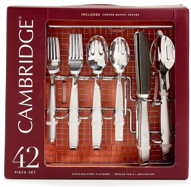 Chasefrost 42-Piece Flatware Set with Chrome Buffet Server