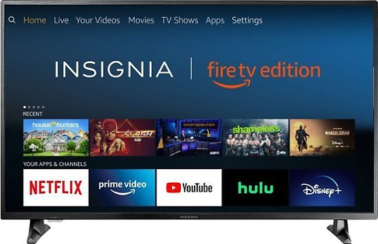 """Insignia  50"""" 2160p Smart 4K UHD TV with HDR – Fire TV Edition + Free Amazon Echo Dot"""