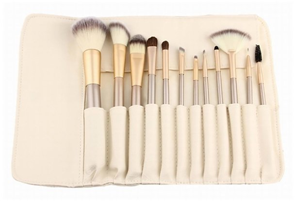 13 Pc. Professional Makeup Brush Set w/ Storage Case
