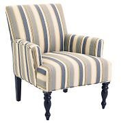 Liliana Collection Surf Blue Striped Armchair