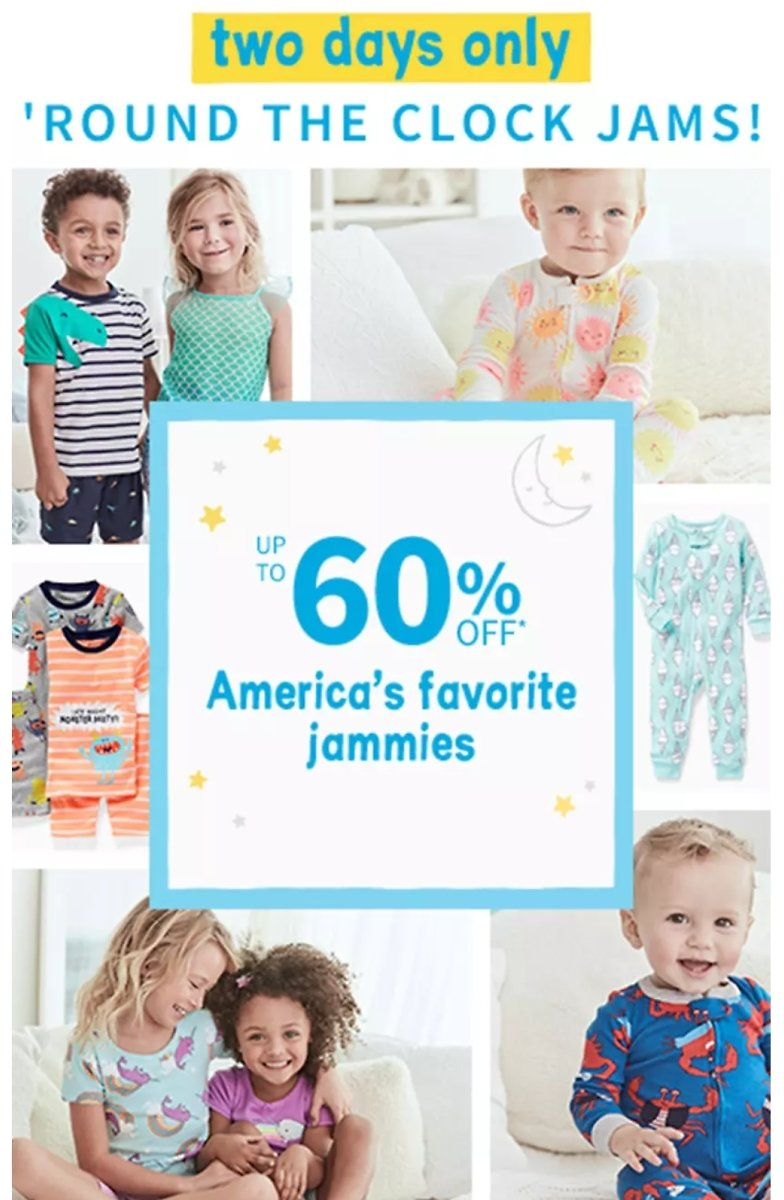 60% off  Carter's PJs + Free Shipping & More