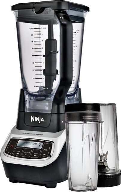 Ninja - Professional 72-Oz. Blender - Black/silver