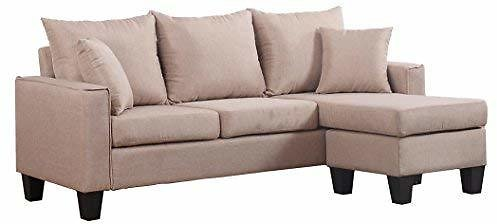 Divano Roma Furniture Modern Sectional, Apricot
