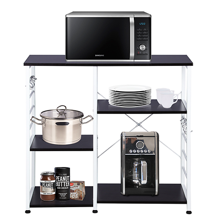 3- Tier Kitchen Standing Bakers Rack Utility Microwave Oven Workstation Shelf Brow
