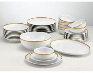 (Ships Free) Martha Stewart Collection CLOSEOUT! 34-Piece Gold Entertaining Set, Created for Macy's Fine China
