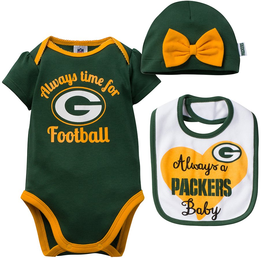 Green Bay Packers Bow-Embellished Beanie Set - Infant