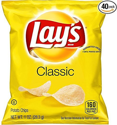 40-Pack Lays Classic Potato Chips