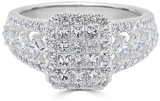 1 1/2 Ct. Tw. Multi-Diamond Engagement Ring in 14K White Gold