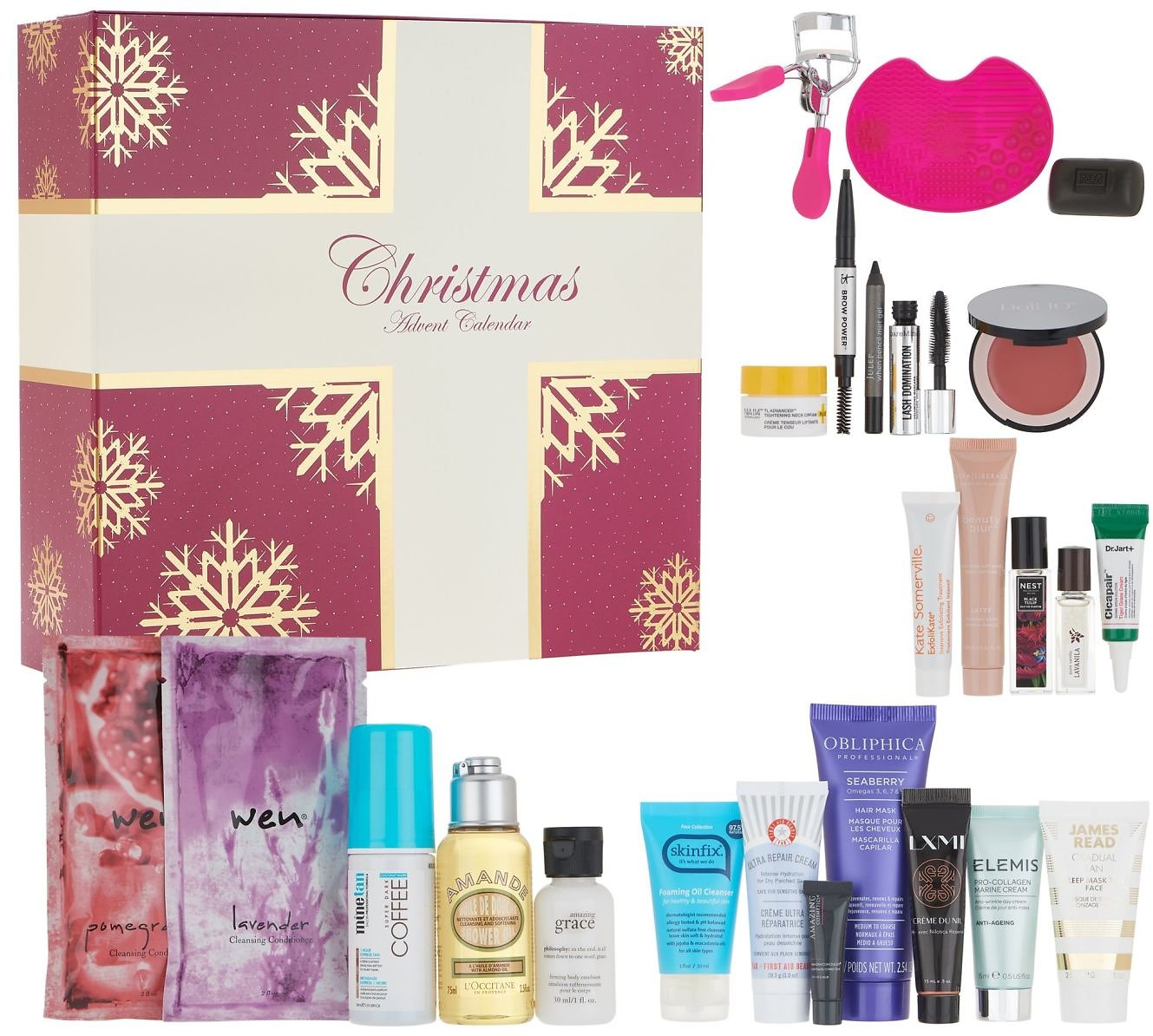 24-Pc QVC Beauty Christmas Advent Calendar Collection