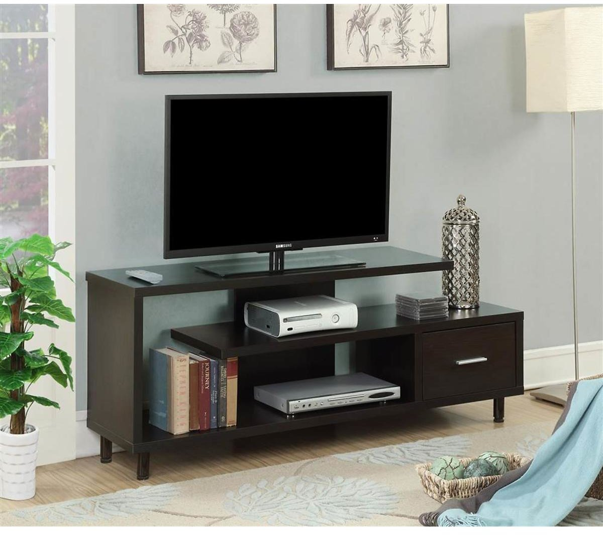 Convenience Concepts 60 In. TV Stand in Espresso