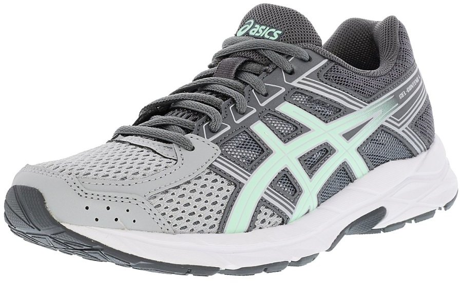 Asics Women's Gel-Contend 4 Mid Grey / Glacier Sea Silver Ankle-High Running Shoe