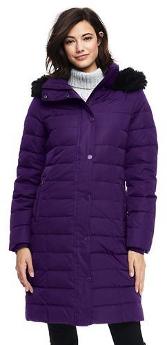 Just $51 Women's Luxe Long Down Coat @ Land's End