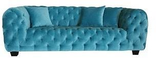 Casa Milano Collection Blue Cotton Velvet Button Tufted Loveseat   Overstock.com Shopping - The Best Deals On Loveseats