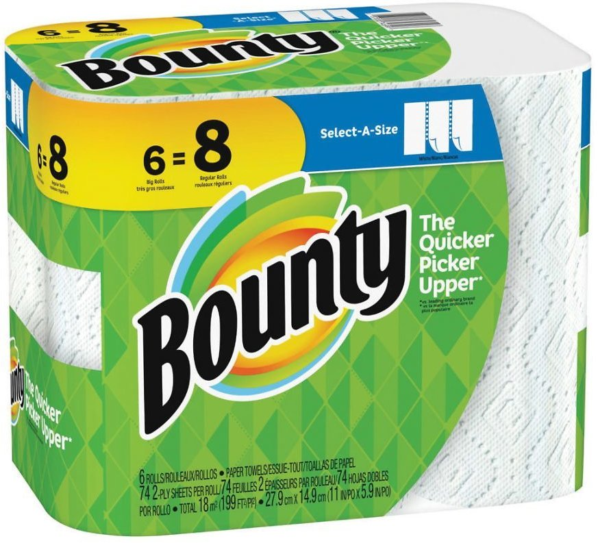 6-Pack Bounty Select-A-Size 2-Ply Paper Towels (In-Store)