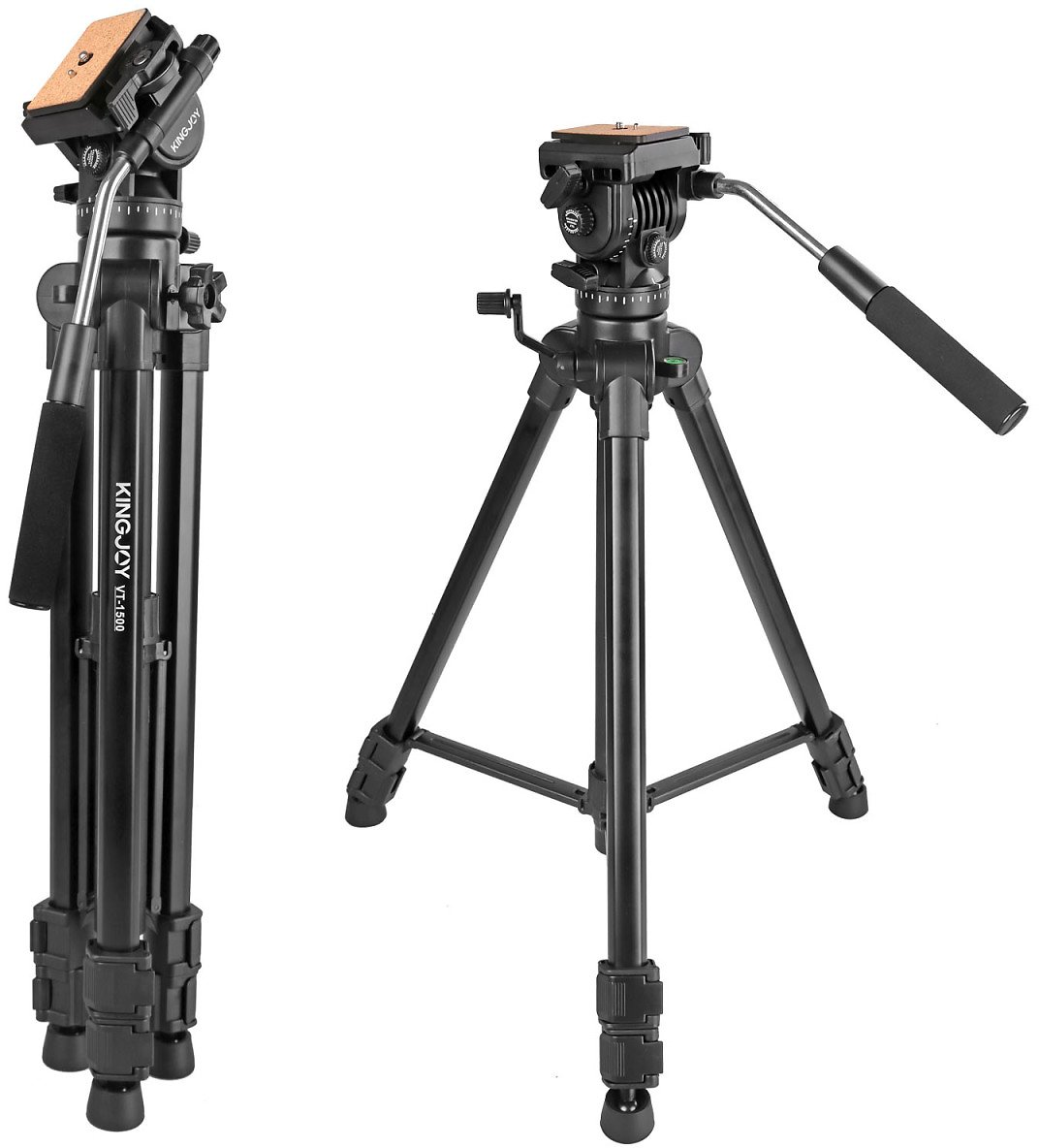 (Only $72.99) Kamisafe VT-1500 Video Tripod with Fluid Head for DSLR Camera