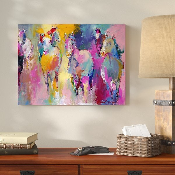 'Wild' Painting Print On Wrapped Canvas