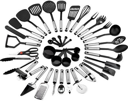 39-Pcs BCP Stainless Steel and Nylon Cooking Tool Utensil Set