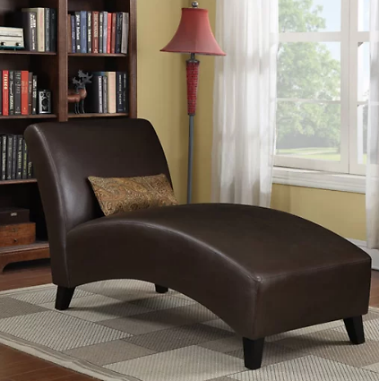 Brennan Leather Chaise Lounge (Ships Free)