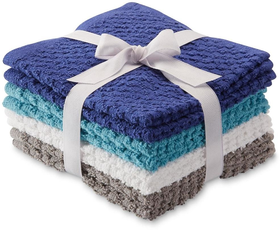 Essential Home Essential Home 8-Pack Terry Cloth Washcloths