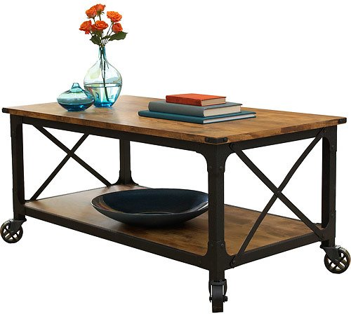 Better Homes and Gardens Rustic Country Coffee Table + Ships Free