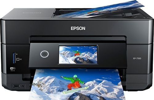 Epson - Expression Premium XP-7100 Wireless All-In-One Printer - Black And Blue