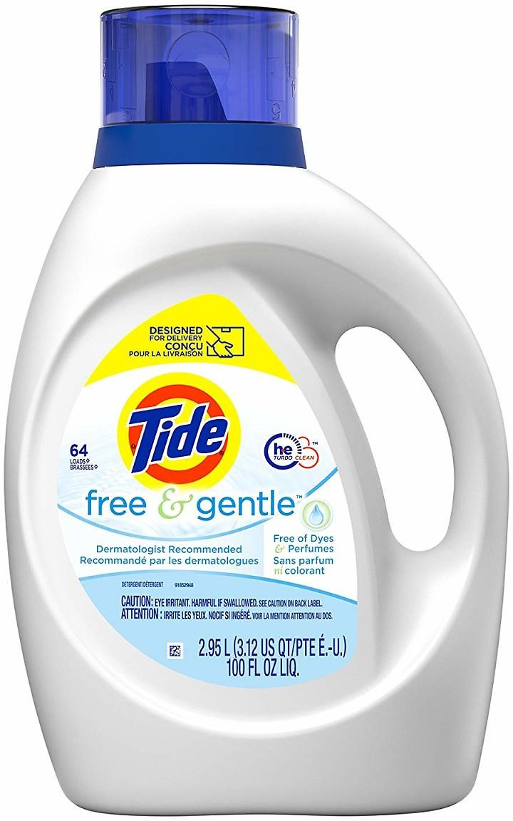 3 Tide Free and Gentle HE Laundry Detergent Liquid