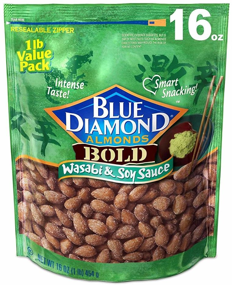 16-Oz Blue Diamond Bold Wasabi & Soy Sauce Almonds