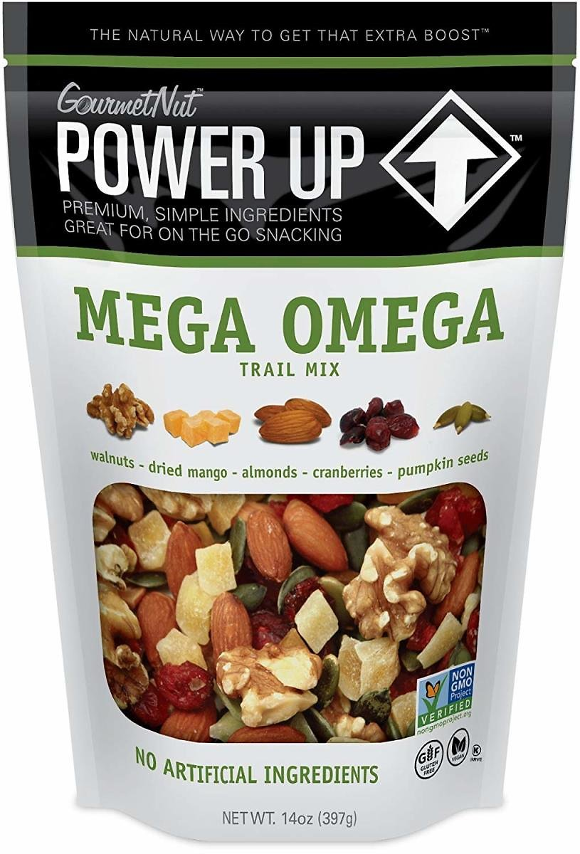 Power Up Mega Omega Trail Mix, 14 Oz