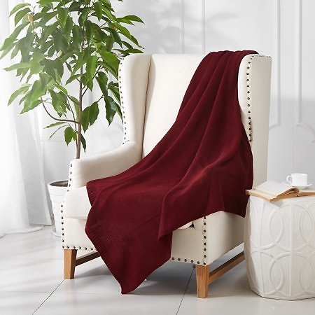Mainstays Cable Knit Throw Blanket (4 Colors)