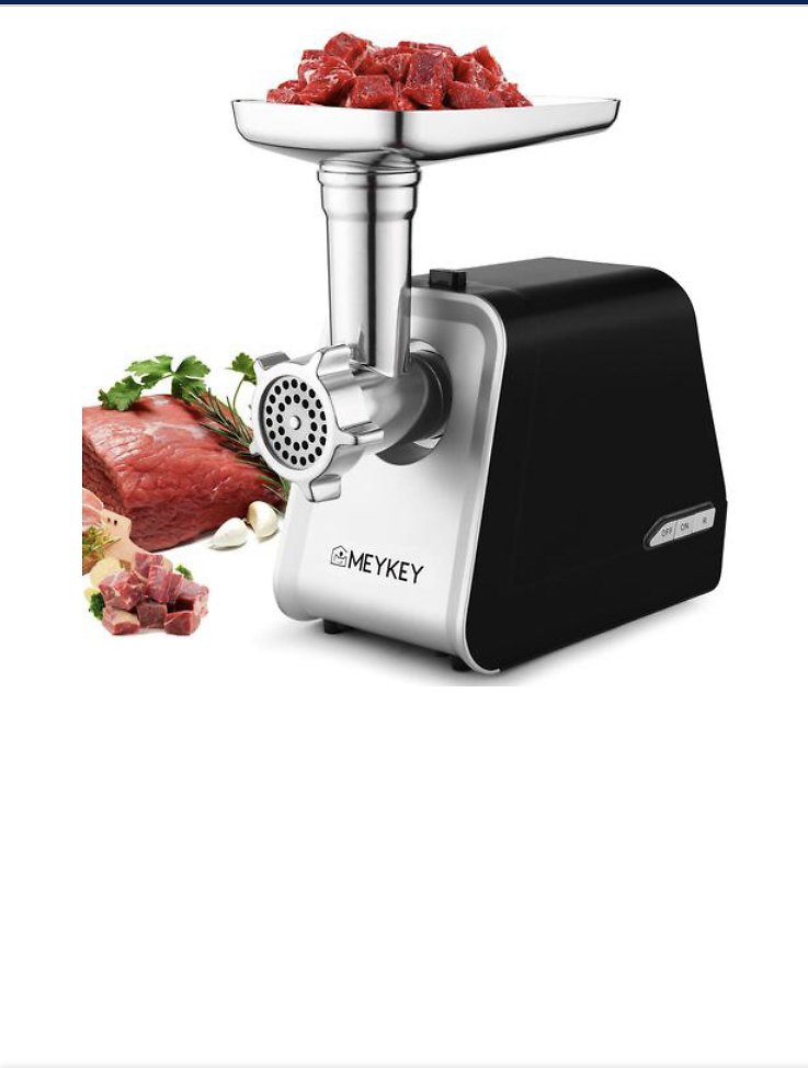 TOPS TOPS New Electric Meat Grinder Rated 500W Black Strong Safe Chicken Beef Food