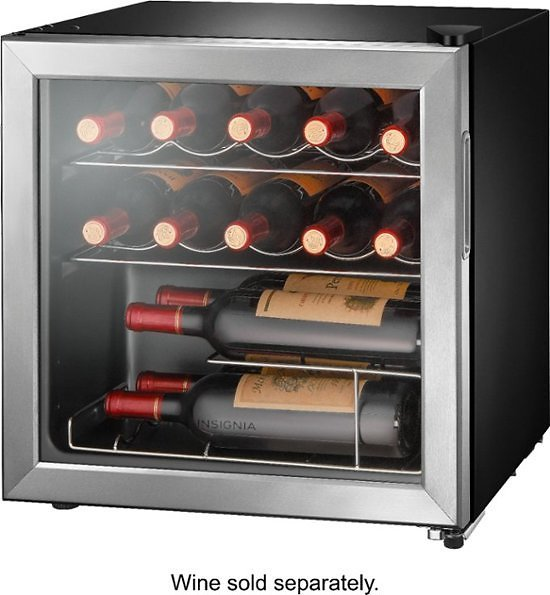 Insignia  14-Bottle Wine Cooler  Stainless Steel + F/S