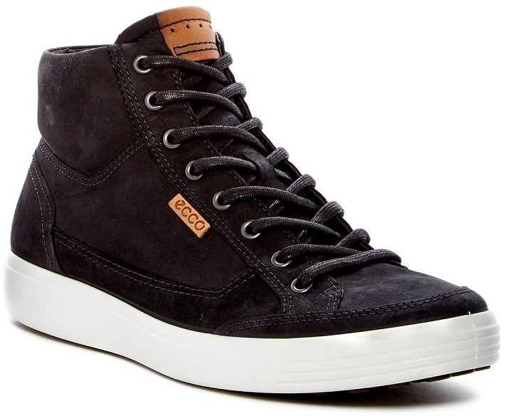 ECCO Soft 7 High Top Leather Sneaker (4 Colors)