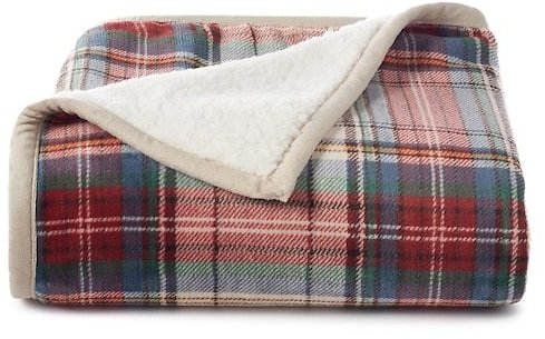 2 Pc Cuddl Duds Printed Plush Sherpa Fleece Throws (8 Colors)