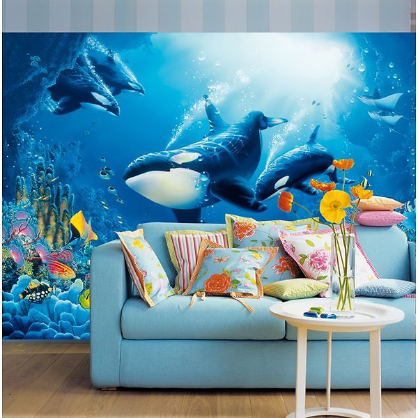 Ideal Decor Delight of Life Wall Mural