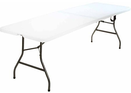 8 Foot Centerfold Folding Table + Ships Free