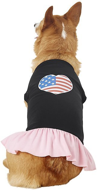 Mirage Pet Products American Flag Heart Dog & Cat Dress