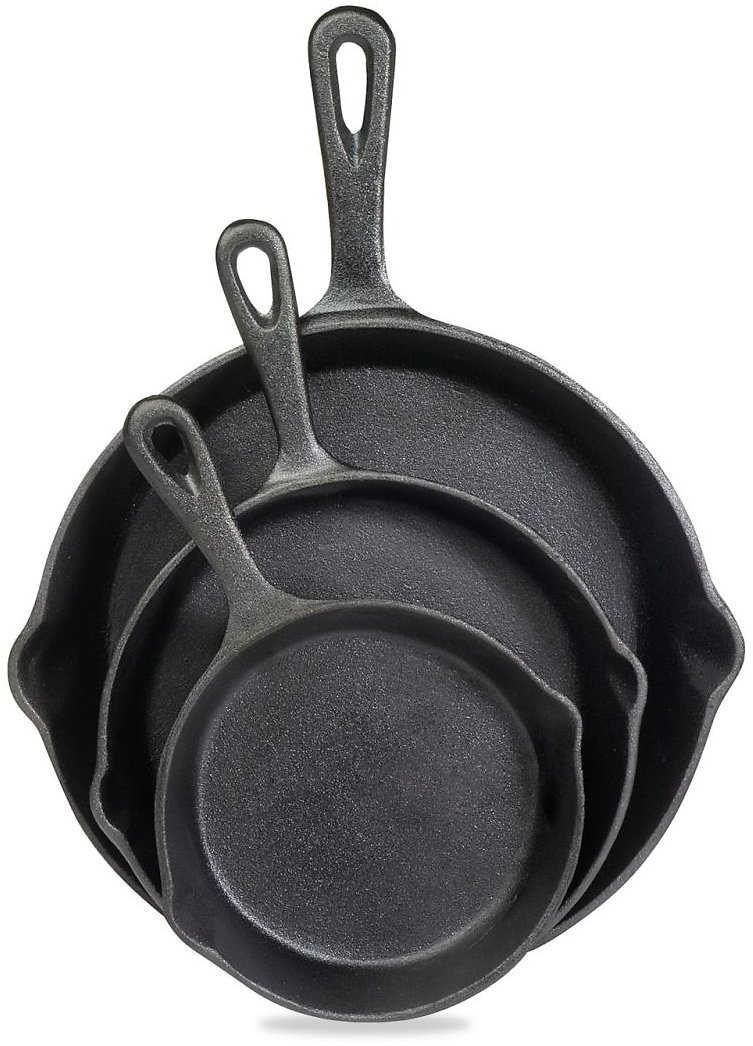 Cooks Tools 3-Piece Cast Iron Fry Pan Set