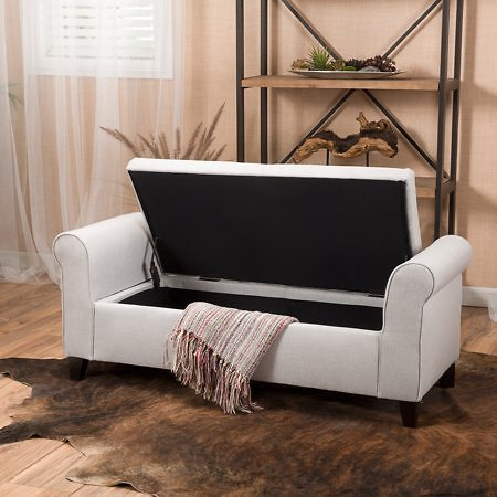 Haden Armed Storage Bench Ottoman + F/S