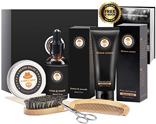(Ships Free) 8 in 1 Mens Gifts for Men Beard Care Growth Grooming Kit