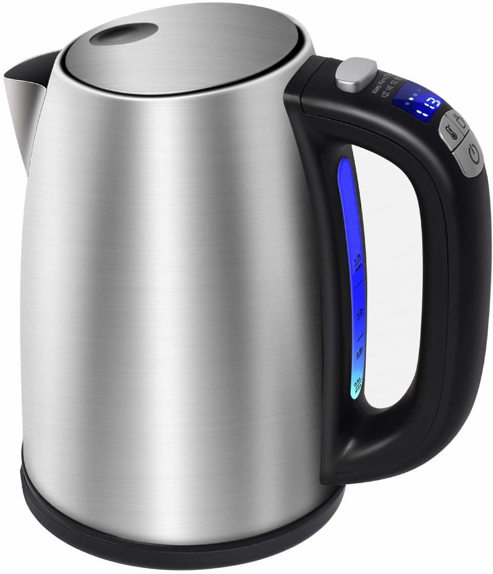 Posame Electric Kettle Cordless Digital Variable Temperature LED Tea Kettle, 1.7 Liter Stainless Steel Hot Water Heater