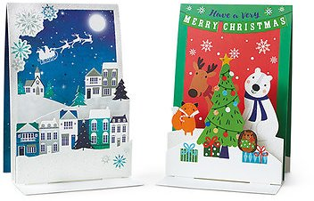 Merry Moments 10-Pack Pop-Up Christmas Cards (In Store 11/28)