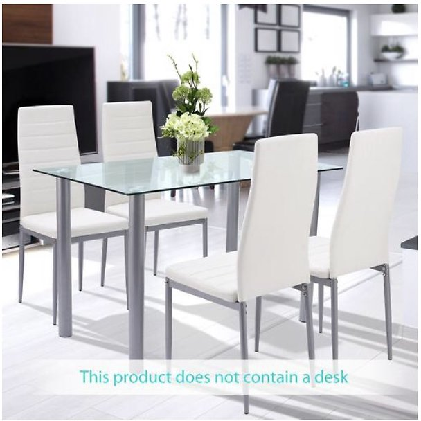 Bestselling Bestselling (Clearance) 4pcs Modern Dining Chair High Back for Home Kitchen Restaurant White