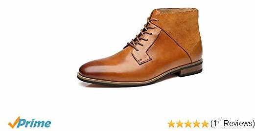 La Milano Mens Winter Chukka Suede Ankle Dress Boots Leather Lace Up Oxford Classic Comfortable Boots