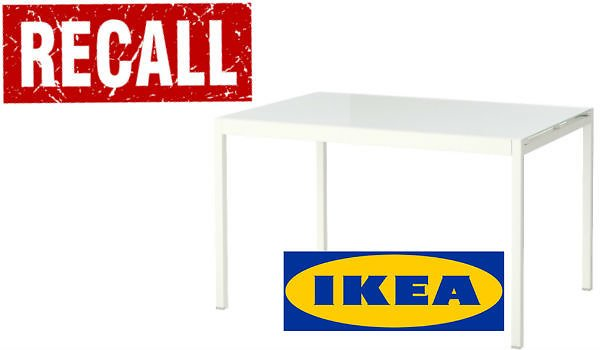 IKEA Recalls Dining Tables Due to Laceration Hazard