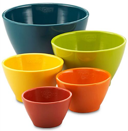 5-Pc Rachael Ray. Melamine Nesting Measuring Cup Set